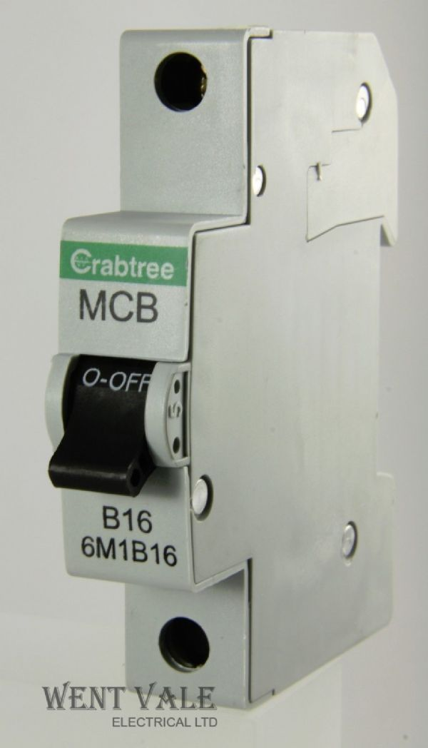 Crabtree Loadstar - 6M1B16 - 16a Type B Single Pole MCB Unused
